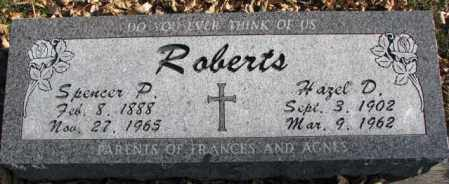 ROBERTS, SPENCER P. - Cedar County, Nebraska   SPENCER P. ROBERTS - Nebraska Gravestone Photos