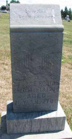 ROBINS, GEORGE - Cedar County, Nebraska | GEORGE ROBINS - Nebraska Gravestone Photos