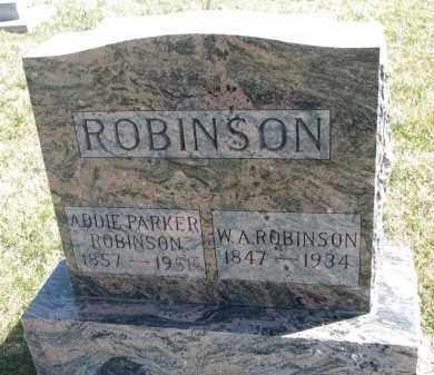 ROBINSON, ADDIE - Cedar County, Nebraska   ADDIE ROBINSON - Nebraska Gravestone Photos