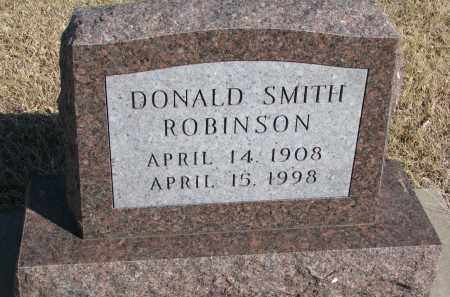 ROBINSON, DONALD SMITH - Cedar County, Nebraska | DONALD SMITH ROBINSON - Nebraska Gravestone Photos