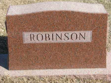 ROBINSON, FAMILY STONE - Cedar County, Nebraska   FAMILY STONE ROBINSON - Nebraska Gravestone Photos