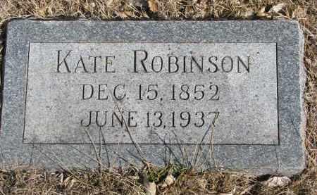 ROBINSON, KATE - Cedar County, Nebraska | KATE ROBINSON - Nebraska Gravestone Photos