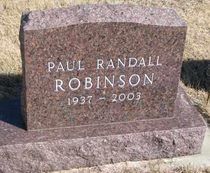 ROBINSON, PAUL RANDALL - Cedar County, Nebraska | PAUL RANDALL ROBINSON - Nebraska Gravestone Photos
