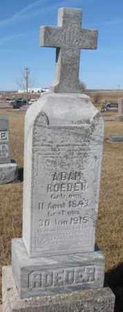 ROEDER, ADAM - Cedar County, Nebraska | ADAM ROEDER - Nebraska Gravestone Photos