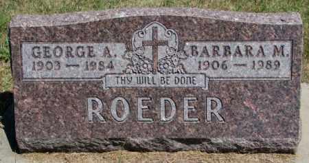 ROEDER, BARBARA M. - Cedar County, Nebraska | BARBARA M. ROEDER - Nebraska Gravestone Photos