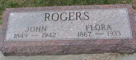 ROGERS, FLORA - Cedar County, Nebraska | FLORA ROGERS - Nebraska Gravestone Photos