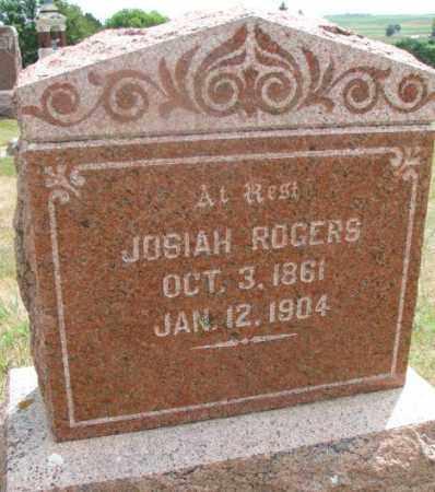 ROGERS, JOSIAH - Cedar County, Nebraska | JOSIAH ROGERS - Nebraska Gravestone Photos
