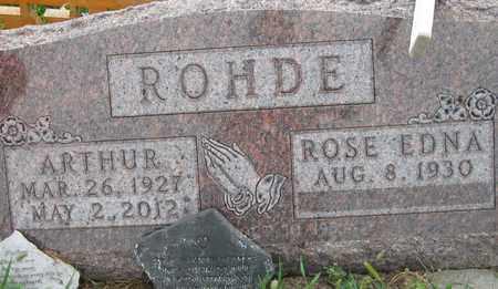 "ROHDE, ARTHUR ""BUZZ"" - Cedar County, Nebraska   ARTHUR ""BUZZ"" ROHDE - Nebraska Gravestone Photos"