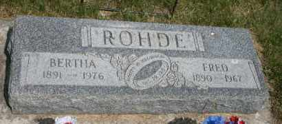 ROHDE, BERTHA - Cedar County, Nebraska | BERTHA ROHDE - Nebraska Gravestone Photos