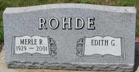ROHDE, MERLE R. - Cedar County, Nebraska | MERLE R. ROHDE - Nebraska Gravestone Photos