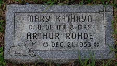 ROHDE, MARY KATHRYN - Cedar County, Nebraska | MARY KATHRYN ROHDE - Nebraska Gravestone Photos