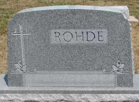 ROHDE, PLOT - Cedar County, Nebraska | PLOT ROHDE - Nebraska Gravestone Photos