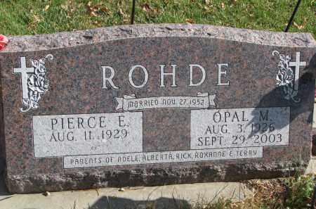 ROHDE, OPAL M. - Cedar County, Nebraska   OPAL M. ROHDE - Nebraska Gravestone Photos