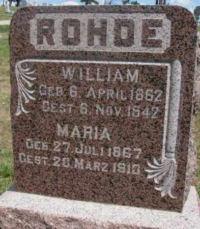 ROHDE, WILLIAM - Cedar County, Nebraska | WILLIAM ROHDE - Nebraska Gravestone Photos