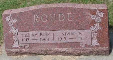 "ROHDE, WILLIAM ""BUD"" - Cedar County, Nebraska | WILLIAM ""BUD"" ROHDE - Nebraska Gravestone Photos"