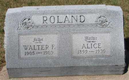 ROLAND, WALTER F. - Cedar County, Nebraska   WALTER F. ROLAND - Nebraska Gravestone Photos
