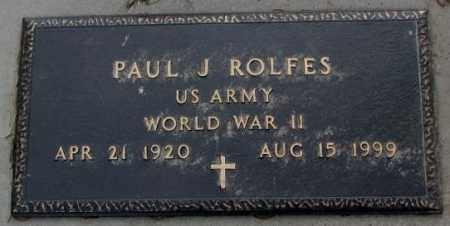 ROLFES, PAUL J. (WW II) - Cedar County, Nebraska   PAUL J. (WW II) ROLFES - Nebraska Gravestone Photos
