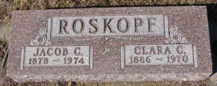 ROSKOPF, CLARA C. - Cedar County, Nebraska | CLARA C. ROSKOPF - Nebraska Gravestone Photos