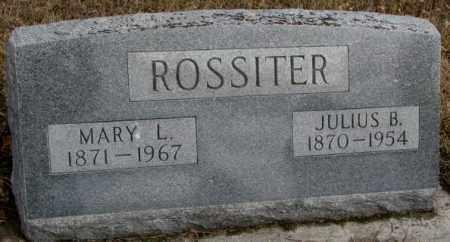 ROSSITER, MARY L. - Cedar County, Nebraska | MARY L. ROSSITER - Nebraska Gravestone Photos