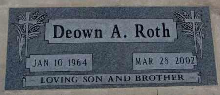ROTH, DEOWN A. - Cedar County, Nebraska   DEOWN A. ROTH - Nebraska Gravestone Photos