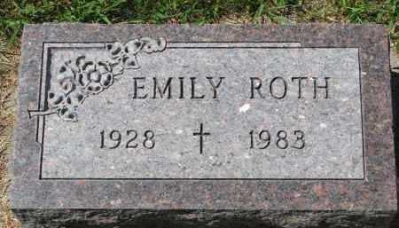 ROTH, EMILY - Cedar County, Nebraska | EMILY ROTH - Nebraska Gravestone Photos