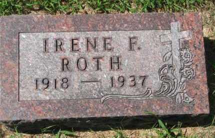 ROTH, IRENE F. - Cedar County, Nebraska | IRENE F. ROTH - Nebraska Gravestone Photos
