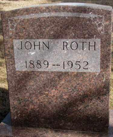 ROTH, JOHN - Cedar County, Nebraska | JOHN ROTH - Nebraska Gravestone Photos