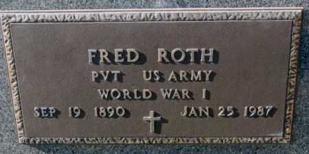 ROTH, RED (WW I MARKER) - Cedar County, Nebraska | RED (WW I MARKER) ROTH - Nebraska Gravestone Photos
