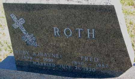ROTH, RUBY A. - Cedar County, Nebraska | RUBY A. ROTH - Nebraska Gravestone Photos