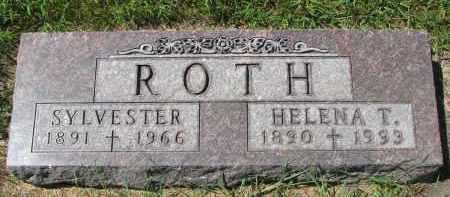 ROTH, SYLVESTER - Cedar County, Nebraska | SYLVESTER ROTH - Nebraska Gravestone Photos