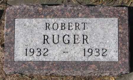 RUGER, ROBERT - Cedar County, Nebraska   ROBERT RUGER - Nebraska Gravestone Photos