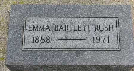 BARTLETT RUSH, EMMA - Cedar County, Nebraska | EMMA BARTLETT RUSH - Nebraska Gravestone Photos