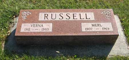 RUSSELL, VERNA - Cedar County, Nebraska | VERNA RUSSELL - Nebraska Gravestone Photos