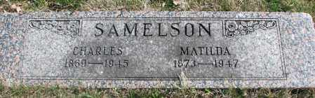 SAMELSON, MATILDA - Cedar County, Nebraska | MATILDA SAMELSON - Nebraska Gravestone Photos