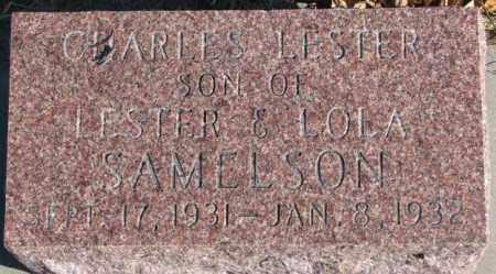 SAMELSON, CHARLES LESTER - Cedar County, Nebraska   CHARLES LESTER SAMELSON - Nebraska Gravestone Photos