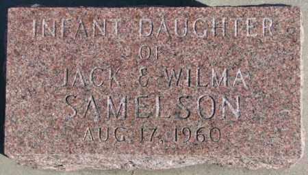 SAMELSON, INFANT DAUGHTER - Cedar County, Nebraska   INFANT DAUGHTER SAMELSON - Nebraska Gravestone Photos