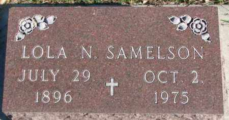 SAMELSON, LOLA N. - Cedar County, Nebraska | LOLA N. SAMELSON - Nebraska Gravestone Photos