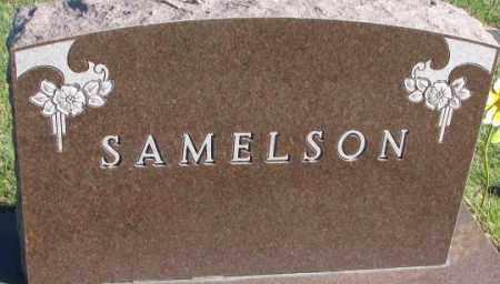 SAMELSON, PLOT - Cedar County, Nebraska | PLOT SAMELSON - Nebraska Gravestone Photos