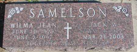 SAMELSON, JACK W. - Cedar County, Nebraska   JACK W. SAMELSON - Nebraska Gravestone Photos