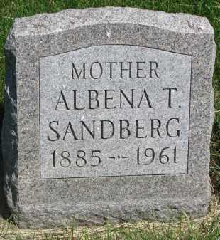 SANDBERG, ALBENA T. - Cedar County, Nebraska | ALBENA T. SANDBERG - Nebraska Gravestone Photos