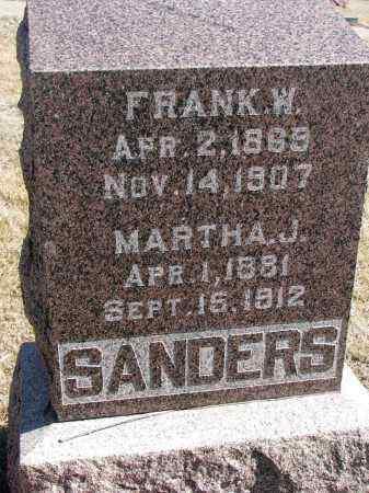 SANDERS, FRANK W. - Cedar County, Nebraska   FRANK W. SANDERS - Nebraska Gravestone Photos