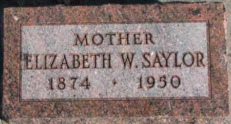 SAYLOR, ELIZABETH W. - Cedar County, Nebraska   ELIZABETH W. SAYLOR - Nebraska Gravestone Photos