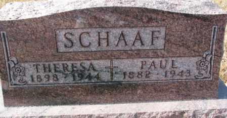 SCHAAF, PAUL - Cedar County, Nebraska   PAUL SCHAAF - Nebraska Gravestone Photos