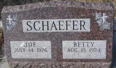 SCHAEFER, BETTY - Cedar County, Nebraska | BETTY SCHAEFER - Nebraska Gravestone Photos