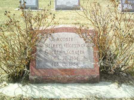 HOESING SCHAFER, DELREY - Cedar County, Nebraska | DELREY HOESING SCHAFER - Nebraska Gravestone Photos