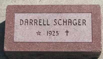 SCHAGER, DARRELL - Cedar County, Nebraska | DARRELL SCHAGER - Nebraska Gravestone Photos