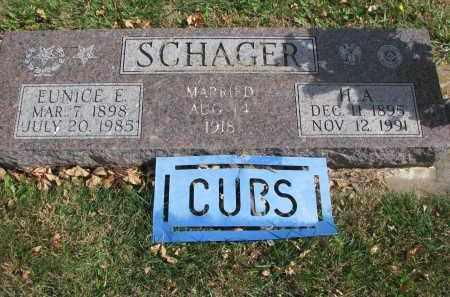SCHAGER, H.A. - Cedar County, Nebraska   H.A. SCHAGER - Nebraska Gravestone Photos