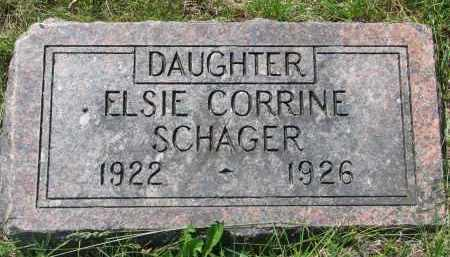 SCHAGER, ELSIE CORRINE - Cedar County, Nebraska | ELSIE CORRINE SCHAGER - Nebraska Gravestone Photos