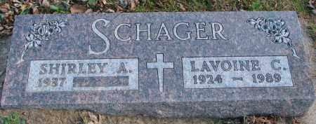 SCHAGER, SHIRLEY A. - Cedar County, Nebraska | SHIRLEY A. SCHAGER - Nebraska Gravestone Photos