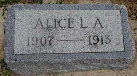 SCHOMBERG, ALICE L.A. - Cedar County, Nebraska | ALICE L.A. SCHOMBERG - Nebraska Gravestone Photos